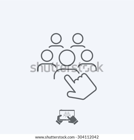 Recruitment icon - Thin series - stock vector