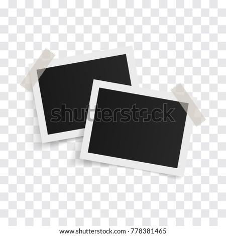 Rectangle Photo Frames On Sticky Tape Vector de stock778381465 ...