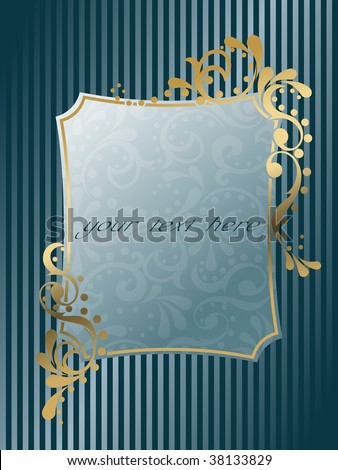 Rectangular vintage Victorian frame (vector); a JPG version is also available - stock vector