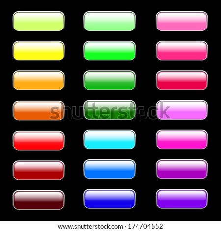 Rectangular Web Buttons ,various colors vector illustration