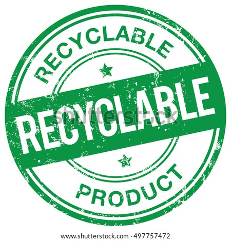 Recyclable Product stamp