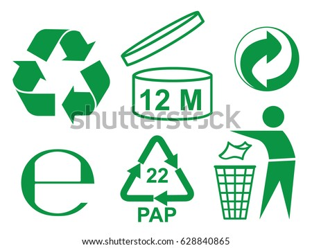 Recycle Some Packaging Sign Stockvector 628840865 Shutterstock