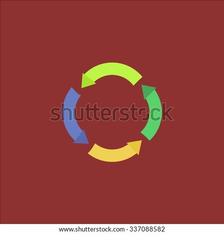 Recycle arrow. Icon Vector. Icon Picture. Icon Graphic. Icon Art. Icon JPG. Icon JPEG. Icon EPS. Icon AI. Icon FLAT. Icon SIMPLE - stock vector