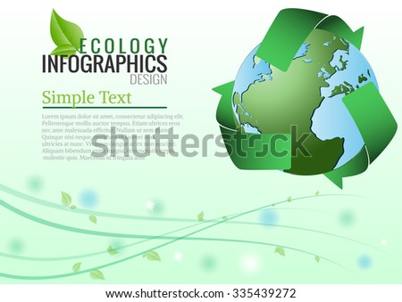 Recycle arrows symbol  for the earth concept. vector illustration