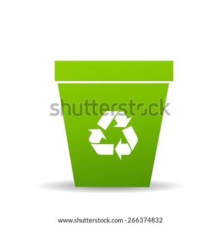 Recycle bin - stock vector