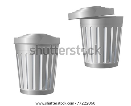 Recycle bin icon in two variations isolated on white. Jpeg version also available in gallery - stock vector