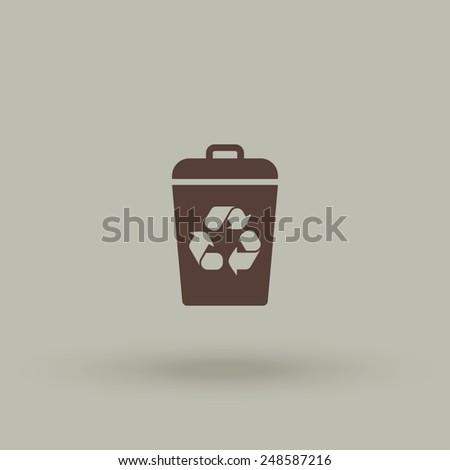 Recycle bin vector icon. Reuse or reduce symbol. - stock vector