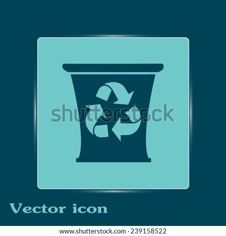 Recycle bin Vector illustration - stock vector