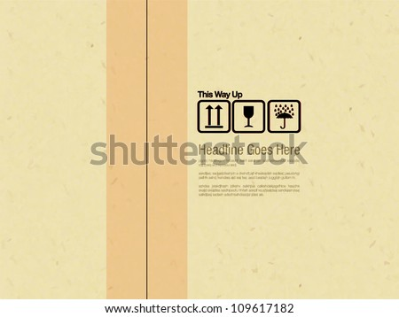 Recycle Box design template - stock vector