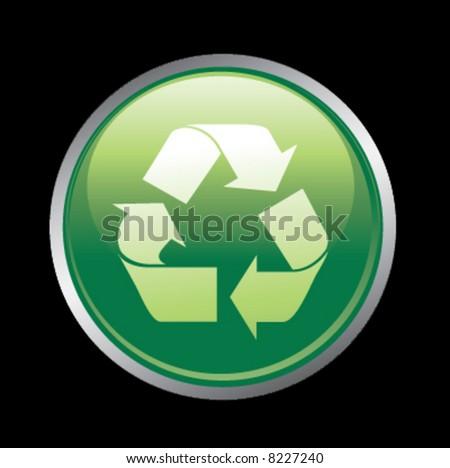 Recycle button icon - stock vector