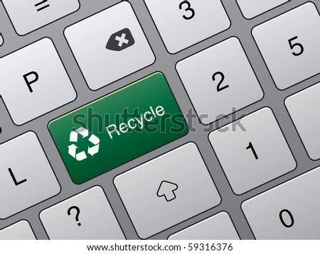 recycle button on keyboard of laptop