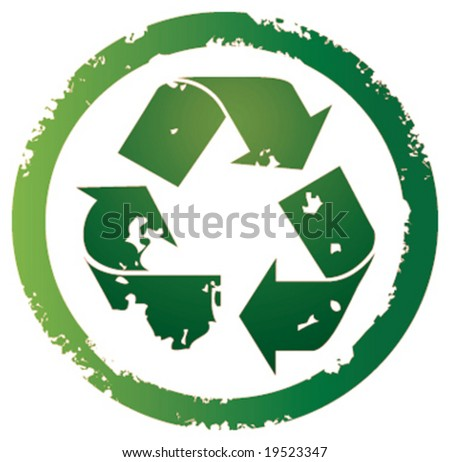 recycle button symbol - stock vector