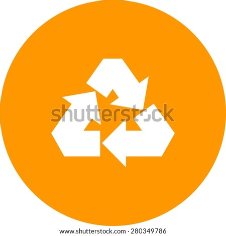 Recycle, ecology, waste icon vector image. Can also be used for energy and technology. Suitable for web apps, mobile apps and print media. - stock vector