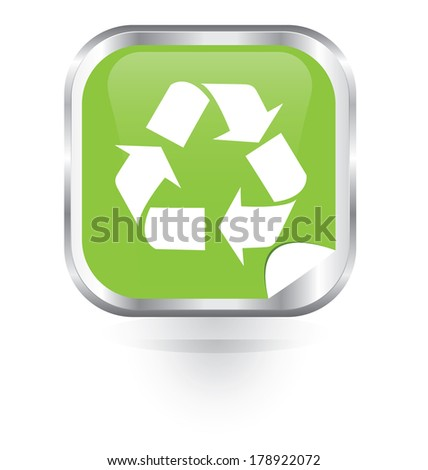 Recycle glossy button