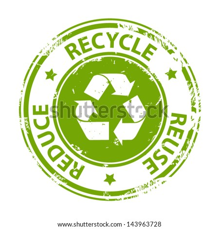 Recycle Green Emblem Symbol Text Recycle Stockvector 143963728