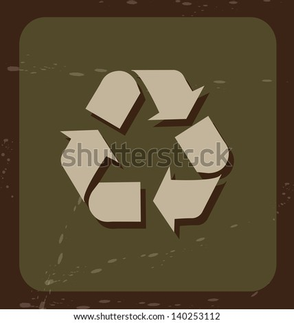 recycle icon over green background vector illustration