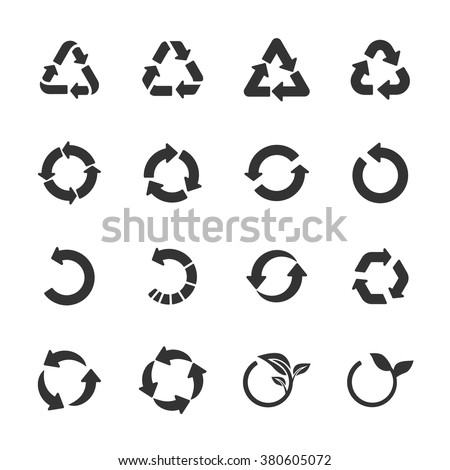 recycle icon set, vector eps10. - stock vector