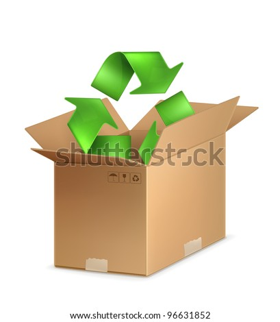Recycle icon, vector