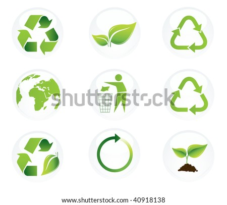 recycle icons - stock vector