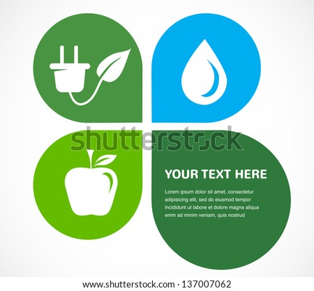 recycle icons wit place for your text - stock vector