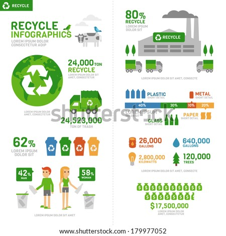 Recycle Infographic  - stock vector