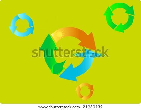 recycle nature vector