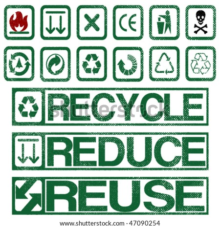 Recycle, Reduce, Reuse. - stock vector