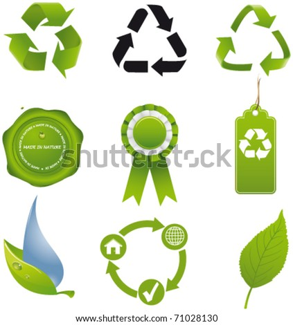Recycle set - stock vector
