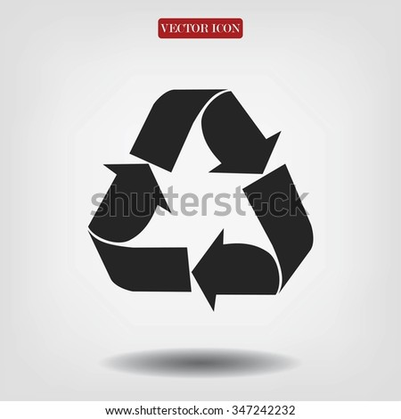 Recycle sign  icon - stock vector