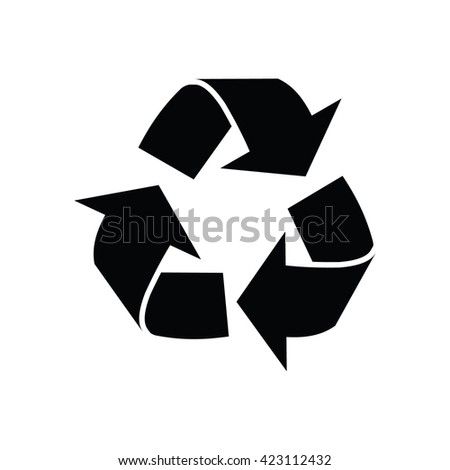 Recycle sign. Vector illustration - stock vector