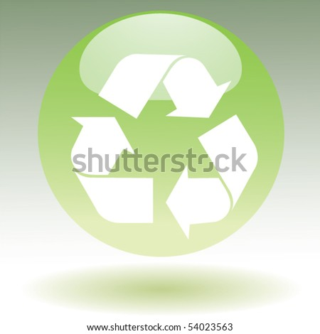 recycle symbol ball