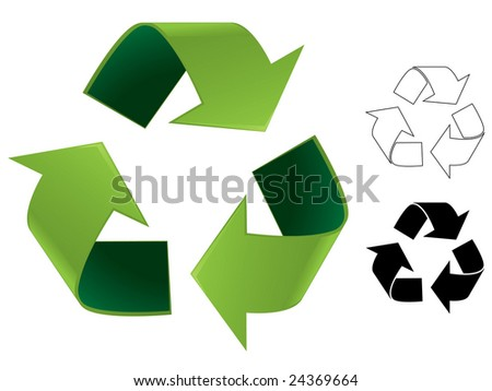 Recycle symbol illustration - stock vector