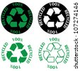 Recycle symbol set - stock photo