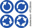 Recycle symbol set. Vector set. - stock vector