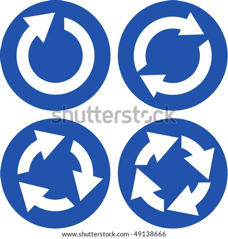 Recycle symbol set. Vector set. - stock vector