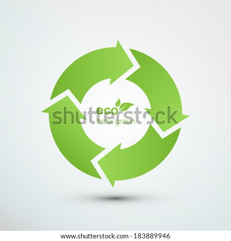 Recycle symbol vector illustration eps10 - stock vector