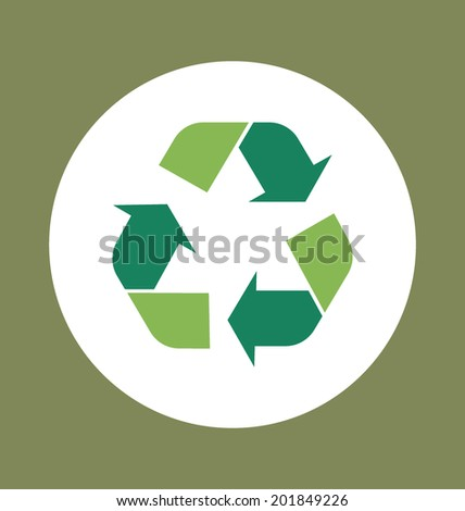 Recycle symbol. Vector symbol on the packaging, vector Illustration. - stock vector