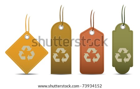 Recycle tags - stock vector