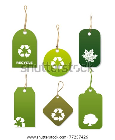 Recycle tags. Vector - stock vector