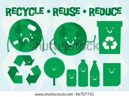 recycle vector/illustration - stock vector