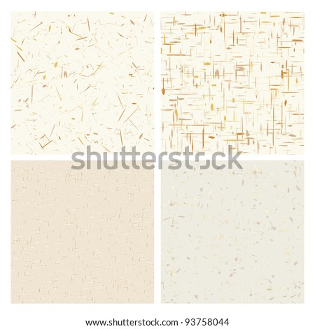 Recycled paper textures, seamless background - stock vector