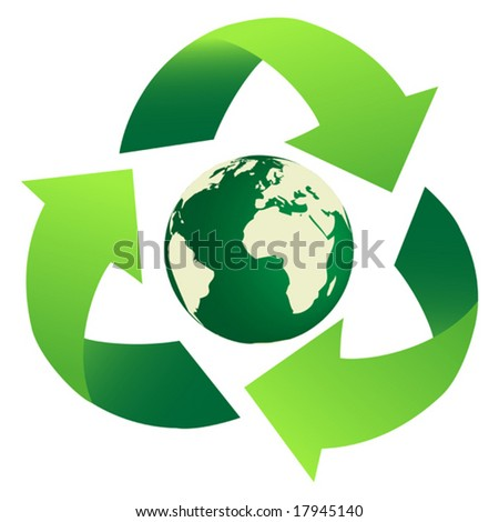 Recycling Earth Vector - stock vector