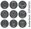 RECYCLING ELEMENTS ICONS AND SYMBOLS. For your ecological projects, print, web, blog. Design elements such as logos. - stock vector