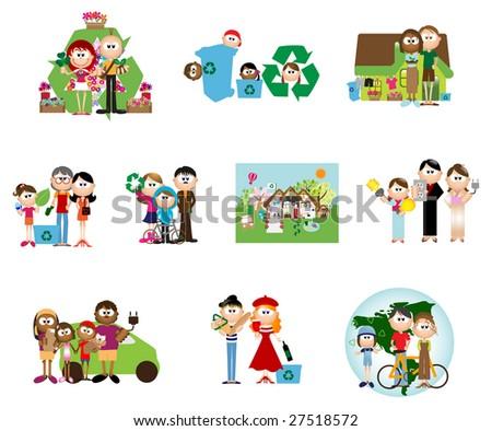 Recycling & Environment icons - Part 20 (vector) - stock vector