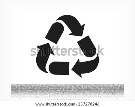 Recycling icon - stock vector