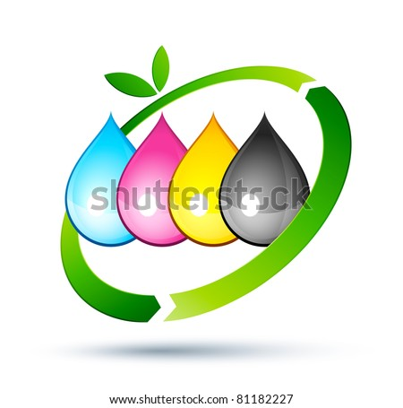 recycling inkjet - stock vector