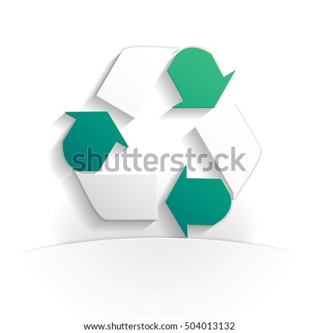 recycling paper icon style full vector