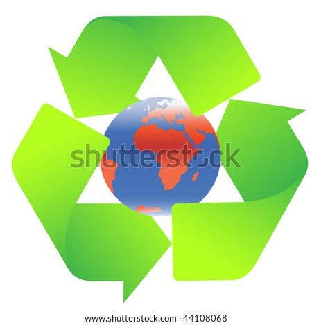 Recycling sign - stock vector