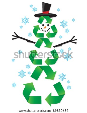 Recycling Snow Man