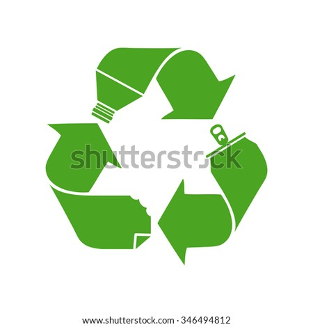 Recycling symbol, concept, vector illustration - stock vector